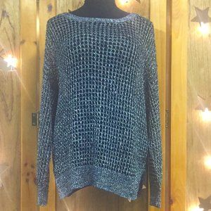 Kenneth Cole Sparkle Mesh Sweater